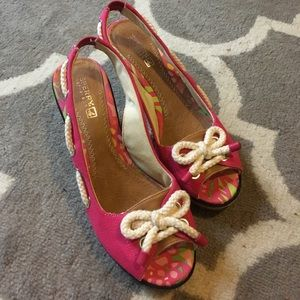 SPERRY *NEW* pink laced wedges
