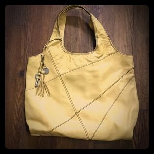 """Fossil Fifty-four """"Addie"""" tote in yellow"""