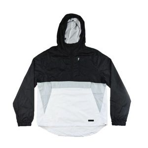 Half Zip Windbreaker - Black/Grey/White