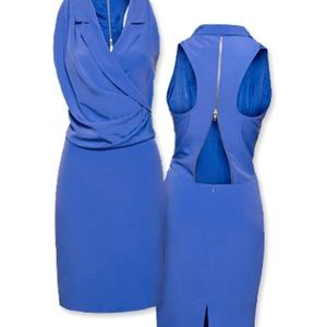 H&M Fashion Star Blue Zip Dress