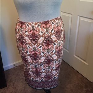 Sophie max lined knit skirt
