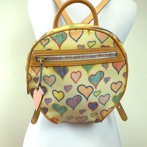 Vintage Dooney & Burke Heart Print Backpack
