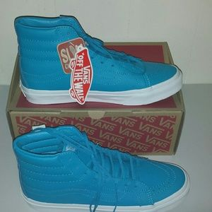 Vans Shoes - Vans Leather SK8-Hi Slim Neon Leather Neon Blue