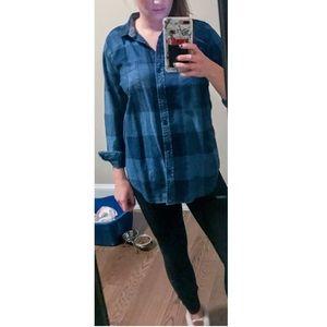 Lucky Brand Blue Flannel