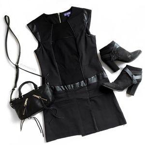 Vivienne Tam Leather Trim Dress