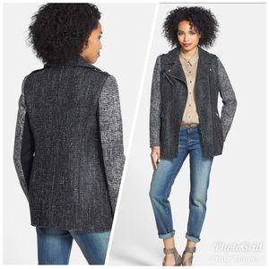 BCBGeneration two toned Tweed Moto jacket coat