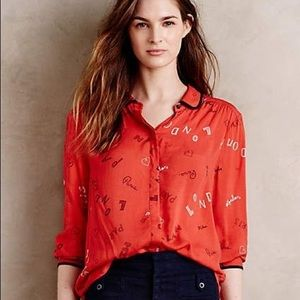 Anthropologie Maeve City Blouse Size 2 ❤️