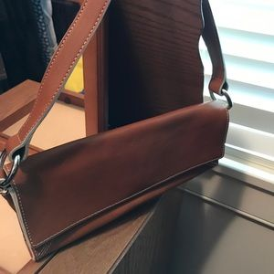 Banana republic leather clutch vintage