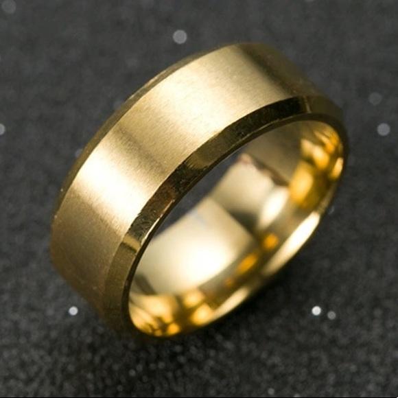 Jewelry New 18 K Yellow Gold Mens Wedding Ring Poshmark