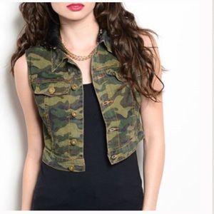 Camouflage Cotton Vest
