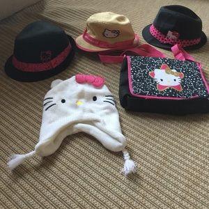 Girls Hello Kitty Hat & Bag Bundle