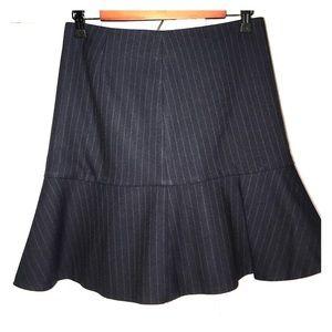 Zara Woman Pin-Striped Skater Flare Work Skirt