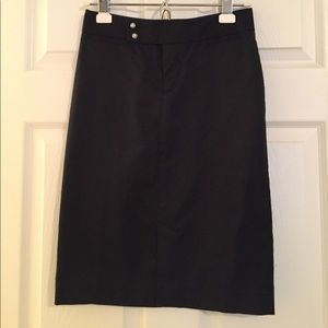 GAP black cotton pencil skirt - size 0
