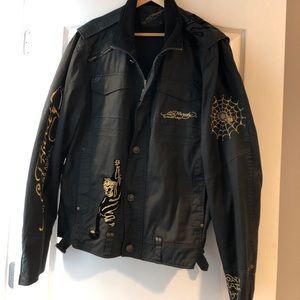 Men's ed hardy black jacket
