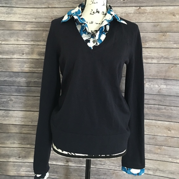 Tory Burch Sweaters Sweater With Faux Shirt Underneath Poshmark