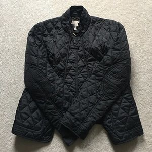 Black quilted jacket, like new
