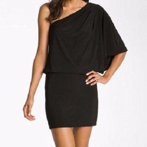 Jessica Simpson one shoulder black dress