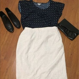 Vintage Pencil Skirt with Pockets