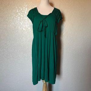 Simply Vera-Vera Wang Emerald Green tiefront dress