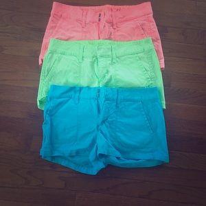 Bright neon colored shorts