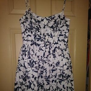 Pleated waist and bust Floral Dress