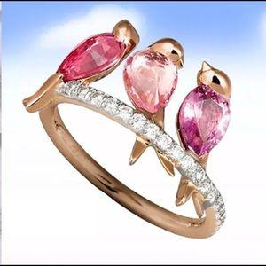 Jewelry - Three Lil' Birdies Cocktail Ring