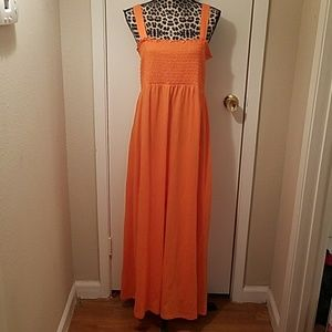 NWOT Plus SZOrange Maxi Dress w/ Removeable Straps