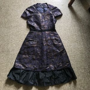 Marc Jacob designer Dress with lurex and flocking