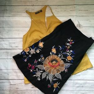 🆕 French Connection > Embroidered Skirt Size 4