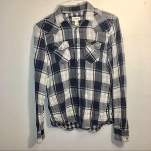 Diesel Plaid Button Down Shirt in Size Medium