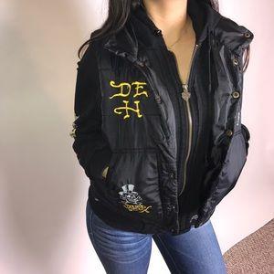 Super Cool Ed Hardy Jacket Vest Hoodie S