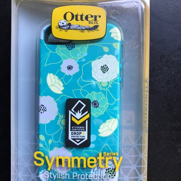 best authentic 0cd43 4e968 Otterbox Symmetry Case iPhone 5 Eden Teal Flowers NWT