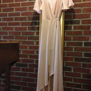 6d7140100d Show Me Your MuMu Dresses - XS SOPHIA WRAP DRESS ~ DUSTY BLUSH CRISP