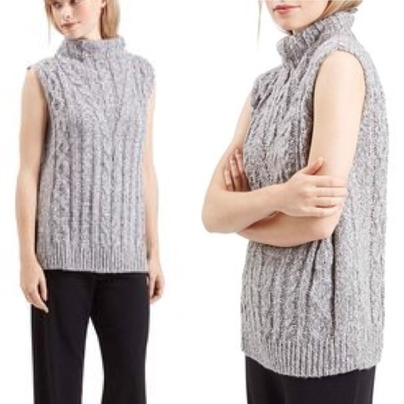 Topshop Sweaters Cable Knit Tabard Sleeveless Sweater Poshmark