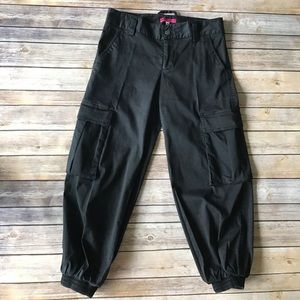 Alice+Olivia Black Cargo Pants Sz 4 Congo Pants