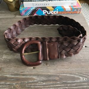 Banana Republic Brown Woven Leather Belt