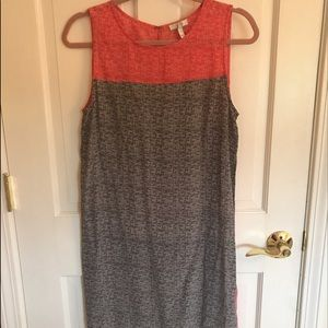 Joie fun coral and black dress size small
