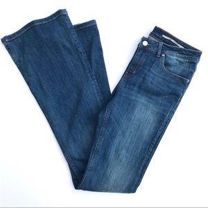 Zara Stretch Flare Leg Jeans, Long, Medium Wash