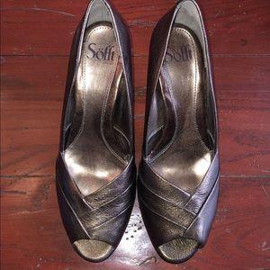 Sofft bronze metallic heels EUC 8.5 M