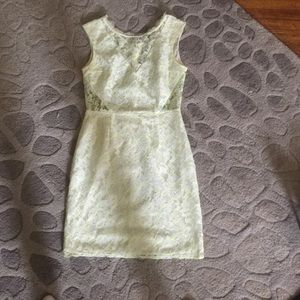Dolce Vita white and neon lace dress size M