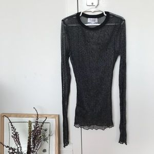 Urban Outfitters sheer sparkly black top!! 🖤