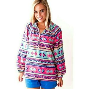 Tops - Aztec pull on blouse