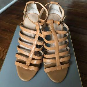 Banana Republic Tan Caged Heel Sandals Sz 7