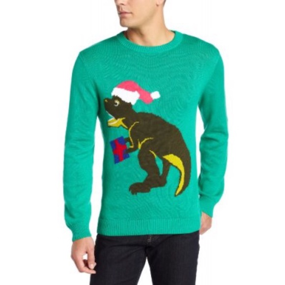 alex stevens ugly christmas sweater dinosaur l - Ugly Christmas Sweater Dinosaur