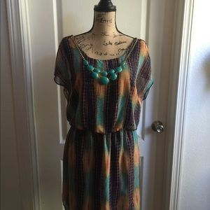 Women's dress with necklace