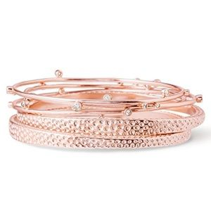 NWOT Kendra Scott rose gold Tatum stacking bangles