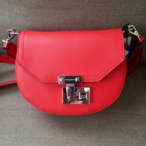 Rebecca Minkoff Paris Saddle Bag Electric Red