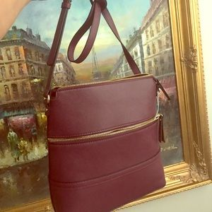 Handbags - Brand new with tags maroon large bag