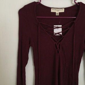 Laceup Knit LS