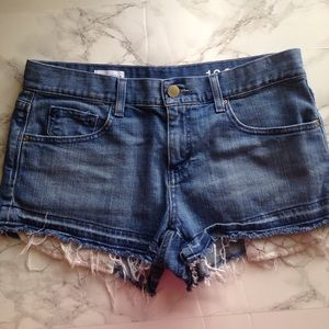 Gap 27/4 M Denim Shorts Lace Fringe Pockets